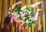 Amina Broggi, Abstand nehmen, 2006, Acryl auf Leinwand, 100 x 140 cm