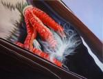 Amina Broggi, Feather, 2005, Acryl auf Leinwand, 100 x 130 cm
