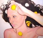 Amina Broggi, She's got ovaries. Part 3, 2009, Acryl auf Leinwand, 150 x 170cm