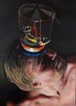Amina Broggi, Unicorn 3, 2011, Acryl auf Leinwand, 90 x 65 cm