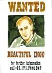 C. Theis, Jagdgründe, Wanted 2 (Beautiful Ingo), 2011, 70 x 50 cm
