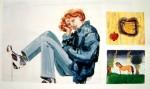 Cony Theis, Jennifer 13, 1998, 85 x 145 cm, 3-teilig, Öl Eitempera
