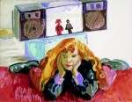 Cony Theis, Jennifer 7, 1991, Eitempera und Acryl auf Leinwand, 70 x 90 cm