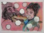 Cony Theis, Paseos, 2008, chin. Tusche, Öl, Transparentpapier, 29,7 x 42 cm