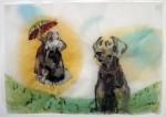 Cony Theis, Paseos (Schirm), 2008, chin. Tusche, Öl, Transparentpapier, 29,7 x 42 cm