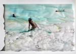 Cony Theis, Strandleben, Strand 15 (ger.), 2009, Chin. Tusche, Oel, Transparentpapier, 42 x 59,2 cm