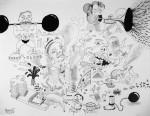 Julien Roux, Apocalypse I, 2008, 50 x 65 cm, Marker auf Papier