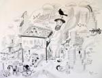 Julien Roux, Apocalypse II, 2008, 50 x 65 cm, Marker auf Papier