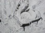 Julien Roux, Apocalypse XI, 2008, 50 x 65 cm, Marker auf Papier