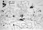 Julien Roux, Apocalypse XIX, 2009,70 x 100 cm, Marker auf Papier
