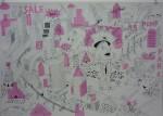 Julien Roux, Apocalypse XVI, 2009, 70 x 100 cm, Marker auf Papier