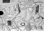 Julien Roux, Apocalypse_XIIIb, 2009, 70 x 100 cm, Marker auf Papier