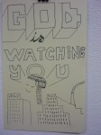 Julien Roux, Carnets des voyages 2007, 2008, 21 x 13 cm, God is watching you very much