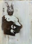 Ransome Stanley, Maske 2, 2011, 40 x 35 cm, Öl auf Leinwand