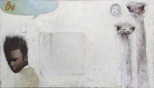 Ransome Stanley, Strauß, 2013, Öl auf Leinwand, 120 x 200 cm