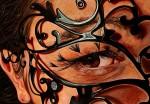 Amina Broggi, the clandestine glance, 2013, 140 x 200, cm Acryl auf Leinwand