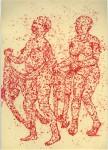 Tanz, 2009, Tintenaquarell, 21,1 x 29,1 cm