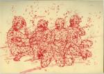 Studie nach Lévi Strauss, 2009, Tintenaquarell, 21,1 x 29, 1 cm