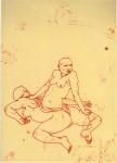 Ich über 2007, rote Tinte auf Papier, 21,1 x 29,1 cm