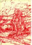 Narziss, 2009, Tintenaquarell, 21,1 x 29,1 cm
