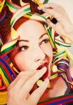 """Amina Broggi,""""covered beauty"""", 2013, 200 x 140cm, Acryl auf Leinwand"""