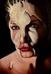 """Amina Broggi, """"elapsed affection"""", 2013, 200 x 140cm, Acryl auf Leinwand"""