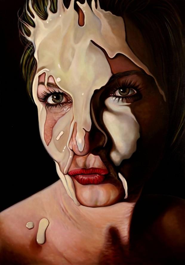 Amina Broggi, Elapsed affection, 2013, Acryl auf Leinwand (2), 200 x 140cm