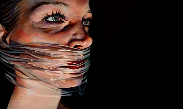 Amina Broggi, silence, 2013, Acryl auf Leinwand, 60 x 100cm