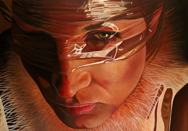 Amina Broggi, The invisible, 2013, Acryl auf Leinwand, 140 x 200cm