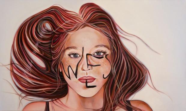 Amina Broggi, We, 2013,  Acryl auf Leinwand, 60 x 100cm