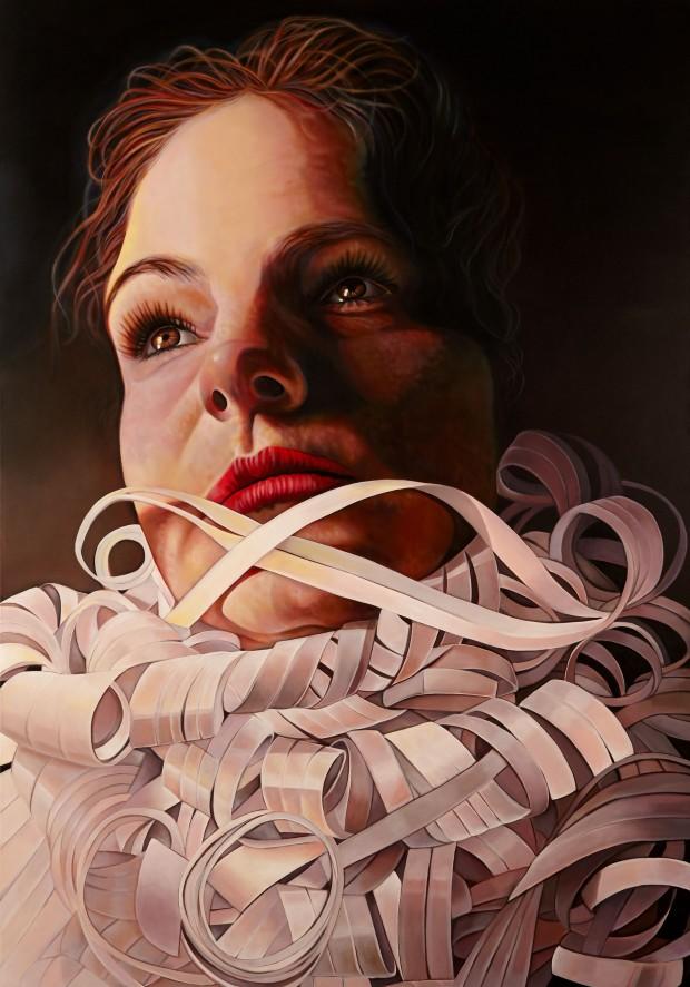 Amina Broggi,unsustainable, 2013, 200 x 140 cm, Acryl auf Leinwand