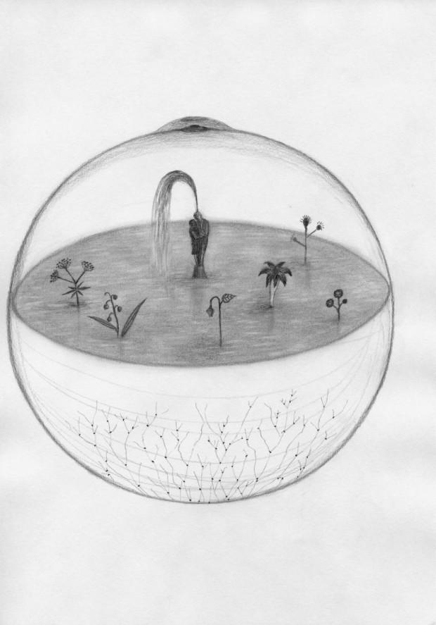 Kyung-Hwa Choi-ahoi, Planet, Bleistift auf Papier, 21x30cm, 2013