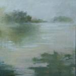 Cris Pink, Niebla sobre agua, 2013, Öl auf Leinwand,  70x70 cm