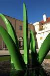Thomas Stimm, Gras, 2006, Aluguss, 250x100x80cm