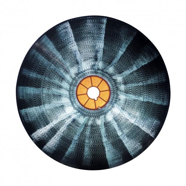 Reiner Riedler, Krzysztof Kieslowski, Trois Couleurs - Bleu, 1993.  620x620 cm (60x60 cm und 100x100 cm), Pigmentdruck Acryl Aludibond, Ed. 5 + 2AP