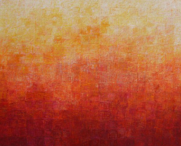 Cris Prink, Puesta del sol, 2008, Öl auf Leinwand, 200 cm x 164 cm