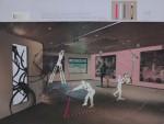 Der Leiter auf der Leiter, 2014, Inkjet Druck auf Recycling Papier, Zeichnung, Collage, 50 x 70 cm