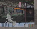 Der schatzsuchende Durchläufer, 2014, Inkjet Druck auf Recycling Papier, Zeichnung, Collage, 50 x 70 cm