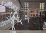Die Fußarbeit und der Blitz, 2014, Inkjet Druck auf Recycling Papier, Zeichnung, Collage, 50 x 70 cm