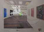 Die fliegende Drei, 2014, Inkjet Druck auf Recycling Papier, Zeichnung, Collage, 50 x 70 cm