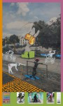 Freche Mädchen, 2014, Mixed-Media auf PVC Plane, 200 X 121cm, 1/5