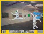 Maestro und seine Schüler, 2014, Mixed-Media auf PVC Plane 200 X 254,5cm, 1/5