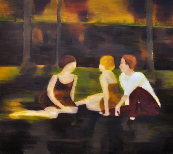 Barbara Petzold, Sommer, 2013, Öl auf Nessel, 160x180cm