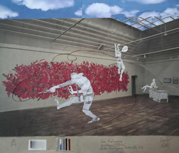 Enfants Terribles, Eindringling, 2014, Collage, Ed.5, 236,5x297cm