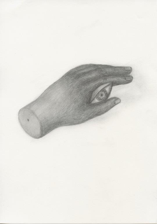 Kyung-hwa Choi-ahoi, Hand, 2013, Bleistift, 37x27cm