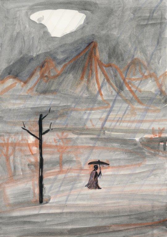 Kyung-hwa Choi-ahoi, Vierjahreszeiten (Sommer), 2013, Buntstift, 37x27cm