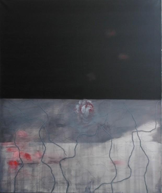 Thomas Kälberloh, o.T., 2013, Acryl auf Leinwand, 120x100cm