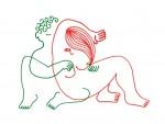 Julien Roux, Eroticly Correct, 2012, Filzstift auf Seidenpapier, 25 x 33,5 cm