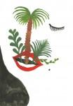 Julien Roux, Florishing Serie - Bouche, 2014, Gouache on paper, 29,7 x 21 cm