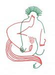 Julien Roux, Eroticly Correct 6, 2012, Filzstift auf Seidenpapier, 25 x 33,5 cm